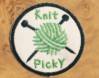 Knit Picky Knitter Patch