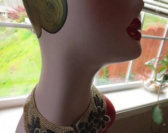 ON SALE Vintage 1950s beaded collar