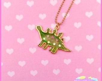 Cute dino necklace fairy kei and lolita