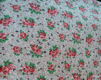 Vintage Roses Cotton Fabric