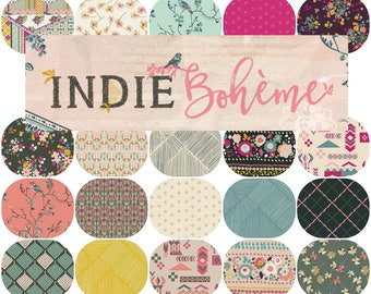 Half Yard Bundle(20) INDIE BOHEME By Pat Bravo for Art Gallery Fabrics Half Yards