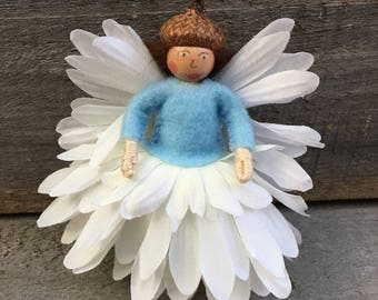 White and Blue flower fairy