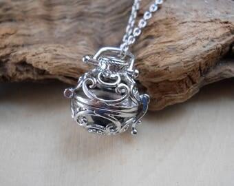 Lava Rock & Essential Oil Diffuser Necklace: Diffuser Necklace, Oil Diffuser Necklace, Lava Stone Necklace, Diffuser, Aromatherapy Jewelry