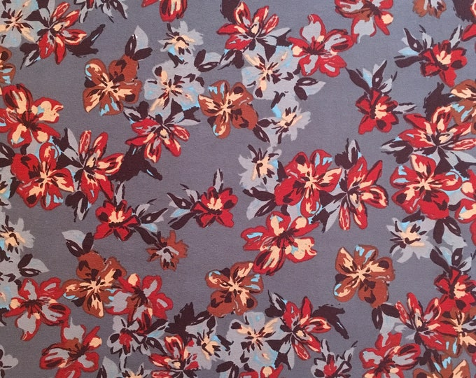 Poly Crepe in Autumn Blooms- Indiesew 2017 Fall/Winter Fabric Collection