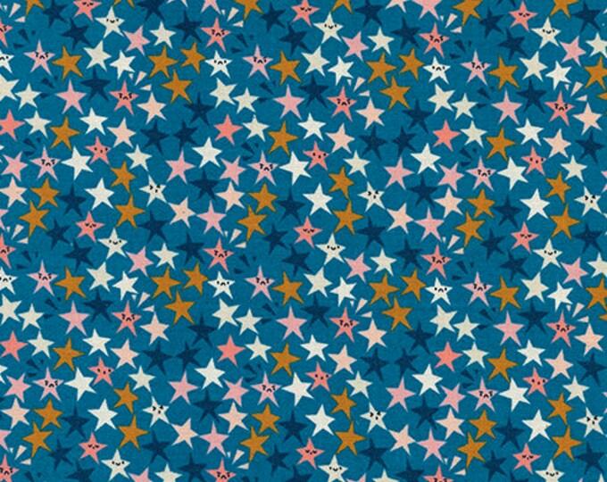 Pre-Sale- Star Struck in Teal -Paper Cuts -Rashida Coleman-Hale for Cotton + Steel