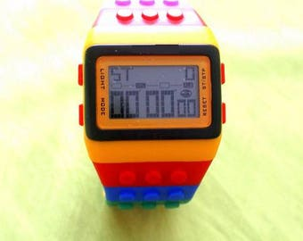 Funny multi-function digital watch made of silicone, sports watch