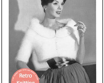 1950's Angora Bolero Knitting Pattern  - PDF Instant Download - PDF Knitting Pattern