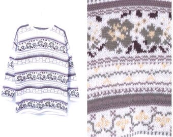 Wild Country Jumper / Floral / Boho/ Earth Tones ADVENTURE Knit