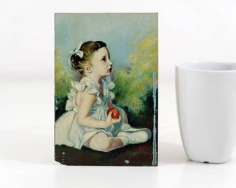 Oil Painting of a Small Girl
