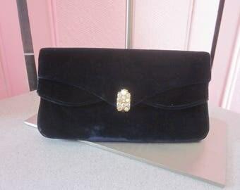 """1950s Black Velvet Evening Bag by """"Garay"""""""