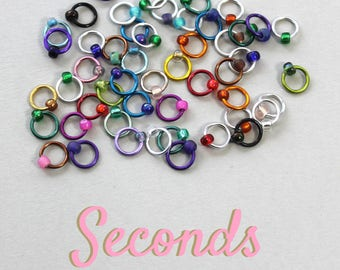 WHOOPS-A-DAISY 50 stitch markers for knitting (SECONDS) Free U.K. Shipping!