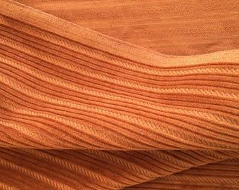 60's Vintage caramel brown corduroy fabric