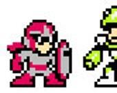 Set of 3 Mega Man Sprites - Snake Man, Mega Man, Proto Man
