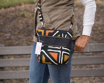triple zip crossbody, crossbody bags for women, african bags and purses for women, african bag, crossbody purse, cross body purse