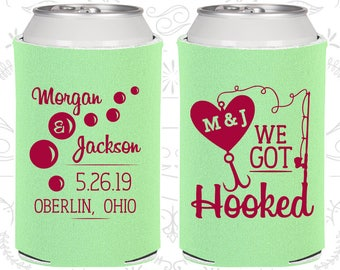 Mint Green Wedding Can Coolers Favors