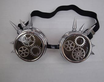 Steampunk Goggles , eye wear , glasses , driving goggles, hat wear, fantasy