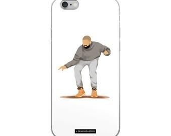 Hotline Bling Drake iPhone 5/5s/Se, 6/6s, 6/6s Plus Case, Dance Tutorial Illustration, Fun Pop Art, Dance Music Funny Drawing, Fan Art (4)