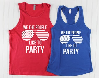 4th of July Shirt/ 4th of July tank tops/ Patriotic Shirt/ His and Hers Shirts/ Family Shirts/ Red White and Blue/ America Tank top/ Merica