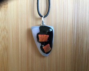 Stained glass art pendant