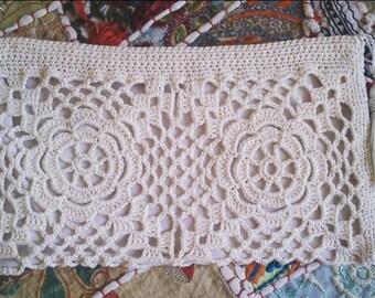 Crochet Ecru Cosmetic Purse...