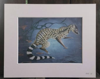 "LIMITED EDITION - Original Art Print - ""The Civet"" By Heather Pecoraro - Lenticular Printed"