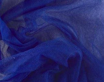 100% French silk tulle -Royal Blue- priced per yard