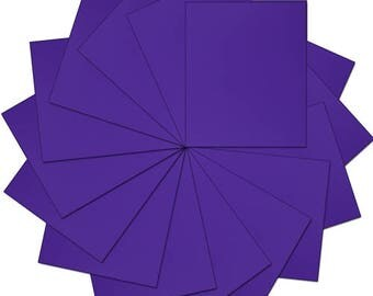 "Pre-cut Sheets Solid Color Heat Transfer Vinyl - Purple - 15 sheets -10""x12"""
