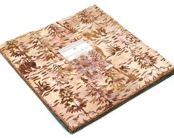 "Moda Fabrics - Bear Creek Batiks Layer Cake 40 - 10"" x 10"" squares"
