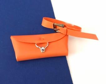 Vintage Barbie Fashion Pak Orange Belt and Clutch Purse