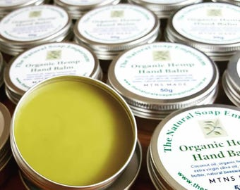 Organic Hemp Hand Balm with beeswax and essential oils