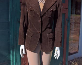 Vintage French Collegiate Corduory Jacket