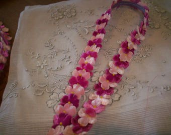 Millinery antique velvet flower trim by the yard
