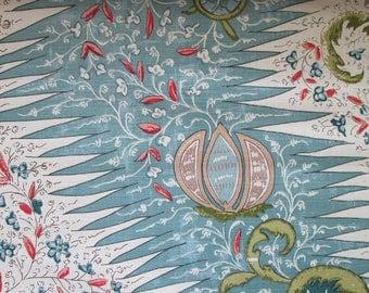 Les Indiennes Blues Multi-High End Designer Decorative Pillow Cover-Quadrille-Accent Pillow-Sofa Pillow-Single Sided