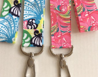 Lanyard Lilly Pulitzer inspired Conch Republic Flamingos