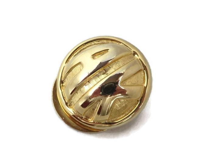 Anne Klein Scarf Clip, Vintage Gold Tone Round Designer Clip Ring, AK Clip