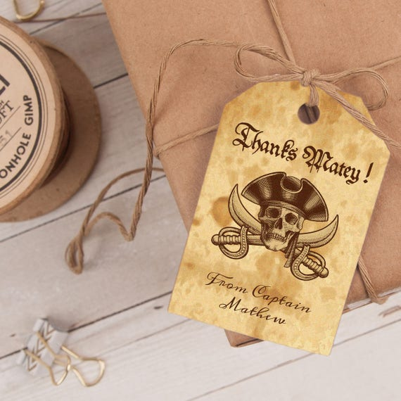 Pirate Favor Tag INSTANT DOWNLOAD