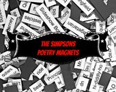The Simpsons Poetry Magnets - Refrigerator Word Quote MagnetsFree Shipping