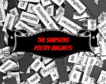 The Simpsons Poetry Magnets, Refrigerator Poetry Word Magnets - Free Gift Wrap