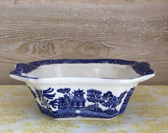 19th Century Blue Willow Serving Dish | Chinoiserie | Allerton's England