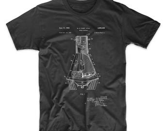 NASA Space Capsule Patent T Shirt, Outer Space Shirt, NASA Shirt, Space Clothing, PP0229