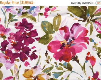 SHIPS SAME DAY Paint Palette Punch Home Decor Fabric, Orchid Floral Drapery Fabric, Paint Palette Punch Fabric By P Kaufmann By the 1/2 Yar