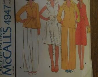 McCalls 4947, size 10, dress, top, pants, UNCUT sewing pattern, craft supplies