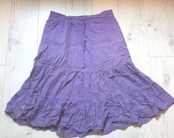 Purple skirt, summer, party, vintage, retro, gipsy skirt, birthday gift, cheap clothes, large skirt, big size, boho, womens, cotton, xl