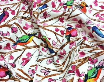 Michael Miller 'Bird Song' CJ5325 Garden Wall Collection by Laura Gunn Patchwork Quilting Fabric