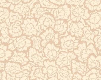 """Philip Jacobs """"Snow Leopard Designs"""" English Garden Pelargonium Leaves PWSL059 Cream Free Spirit Fabric"""