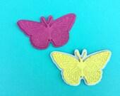 Butterfly Hair Clips, Summer Hair Clips, Butterflies, Pink Hair Clips, Leather Hair Clips, Leather Bows, Butterfly Hair Bows, Hair Clip Set