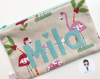 Handmade pencil case, zipper Pouch, personalised gifts, stationary, school essentials, gift for girls, boys
