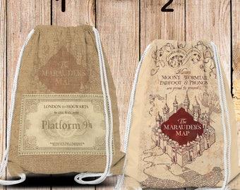 "Gym-Bag, Gym Drawstring Bag, Turnbeutel, Sportbeutel, Gymnastikbeutel "" Potter inspiriert """