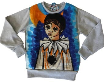 Sweat child Pierrot - 10 years - Collection canvas