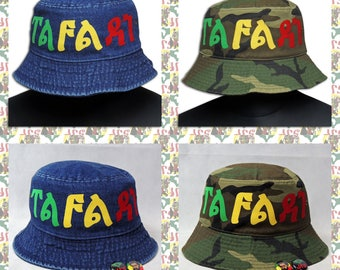 TAFARI [drs] Hat DENIM or CAMO (Rasta color)
